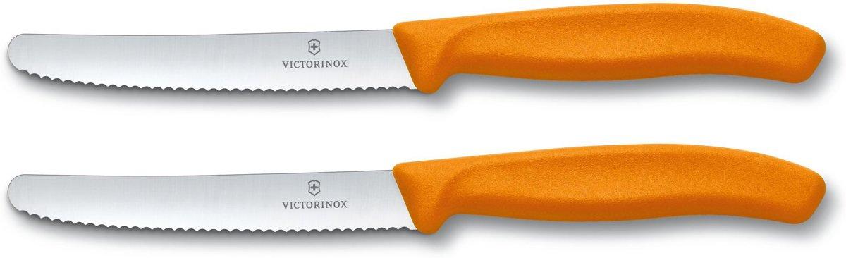 Victorinox Tomatenmes Broodmes Kaasmes Mes Oranje 2 Stuks
