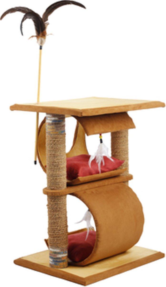 AFP DREAMS CATCHER - ELEN CAT FURNITURE - SAND/BEIGE. Krabpaal kat hout goedkoop design