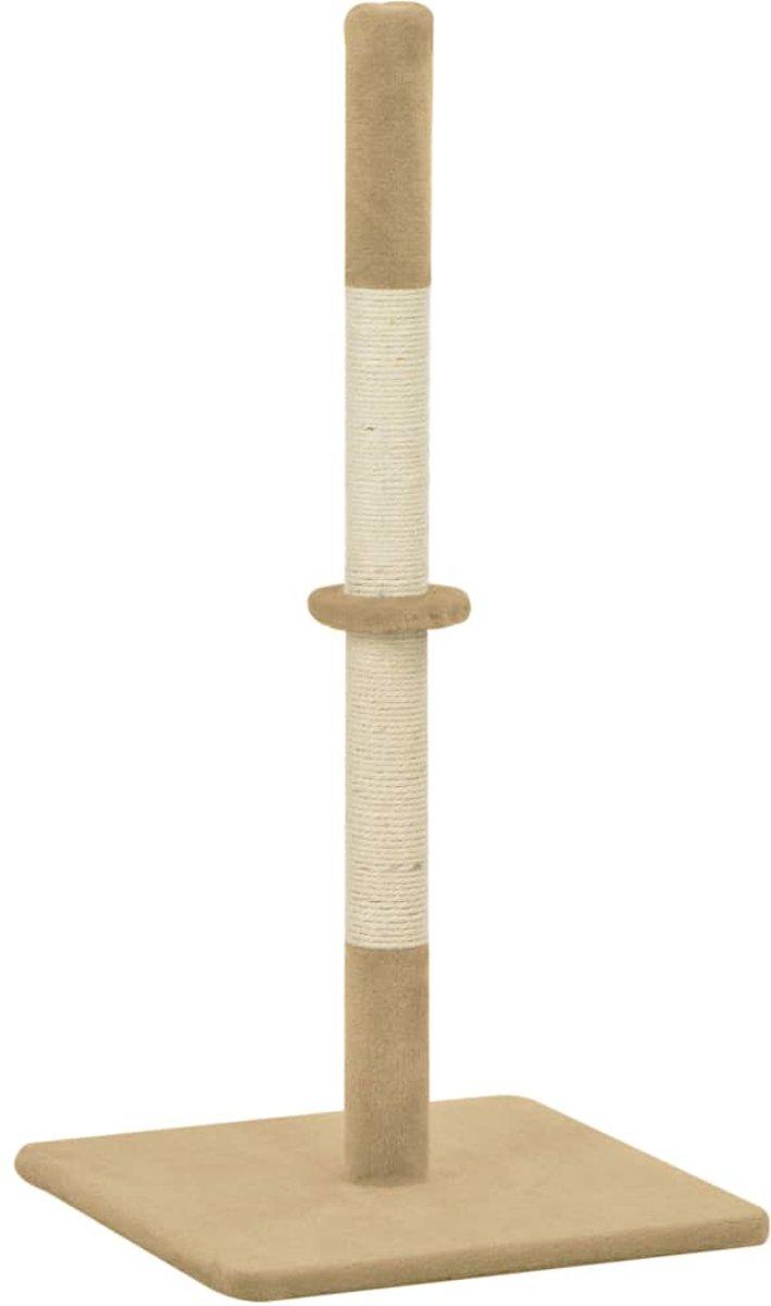 vidaXL Kattenkrabpaal 40x40x80 cm sisal beige
