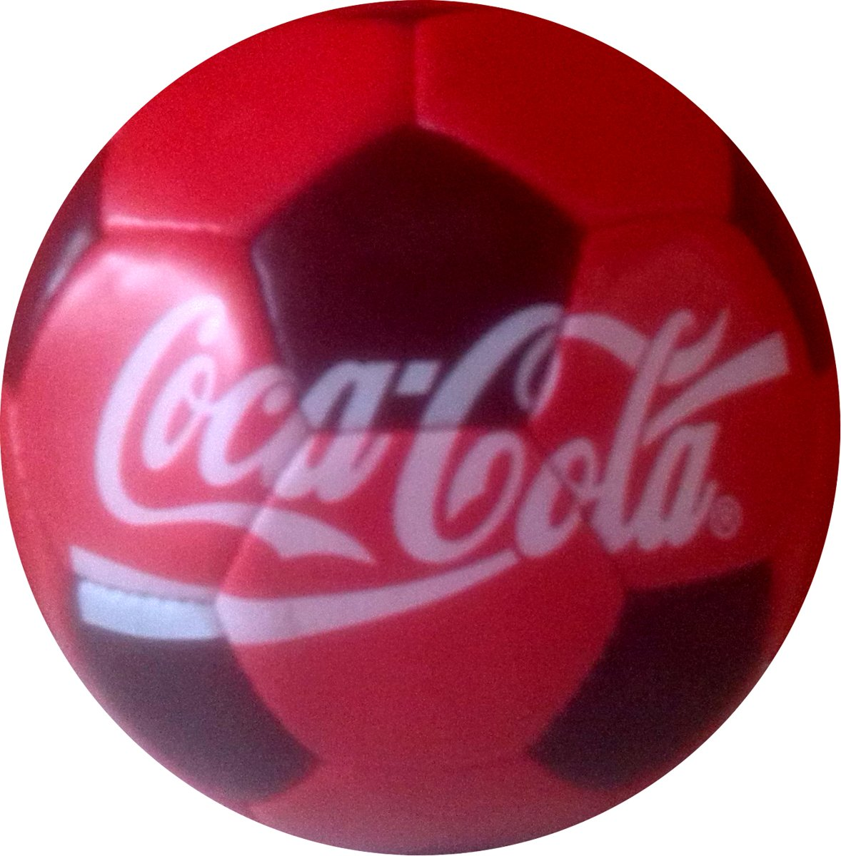 Coca Cola Voetbal rood