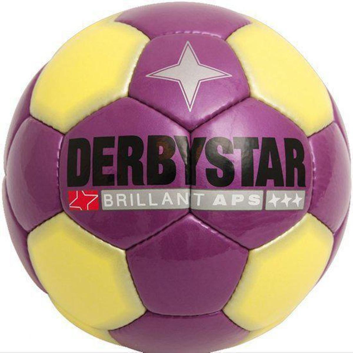 Derbystar Brillant Snow - Voetbal - 5 - Paars / Geel