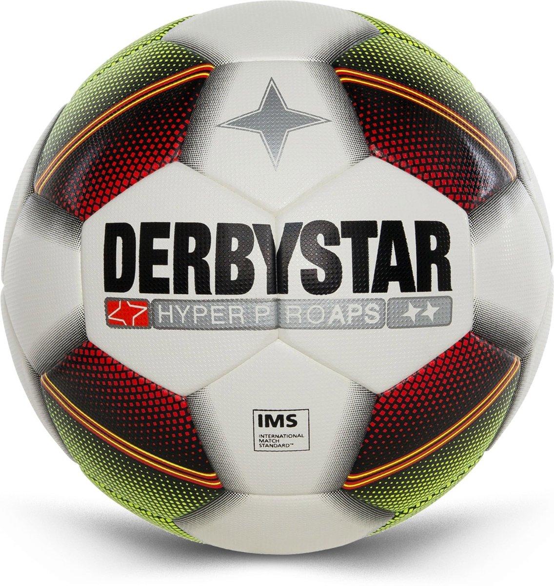 Derbystar VoetbalVolwassenen - wit/rood/groen