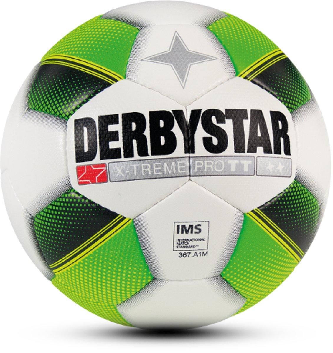 Derbystar VoetbalVolwassenen - wit/groen/geel