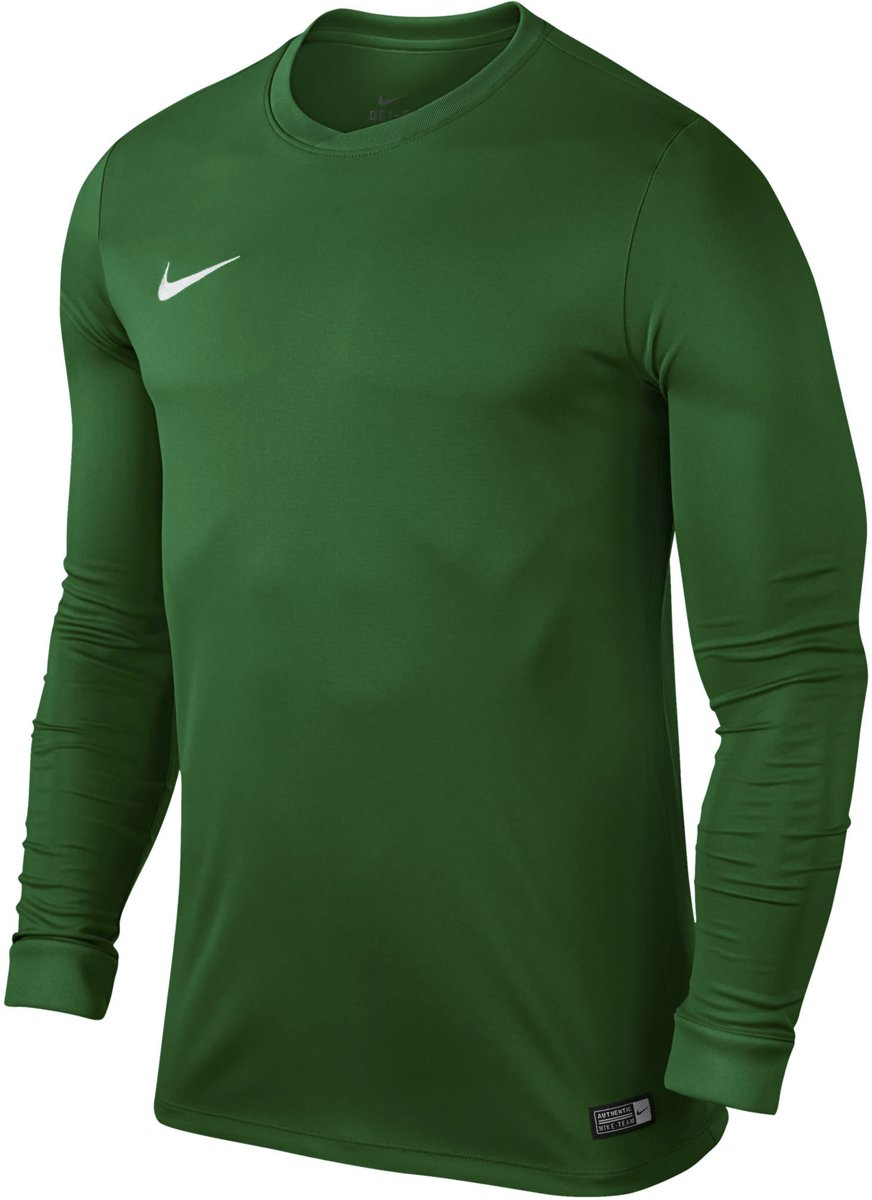 Nike LS Youth Park VI Jersey Pine Green White Kids
