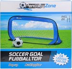 Penalty Zone voetbalgoal pop-up blauw 122 x 66 x 66 cm