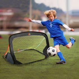 Free and Easy voetbaldoel pop-up 122 x 66 cm zwart
