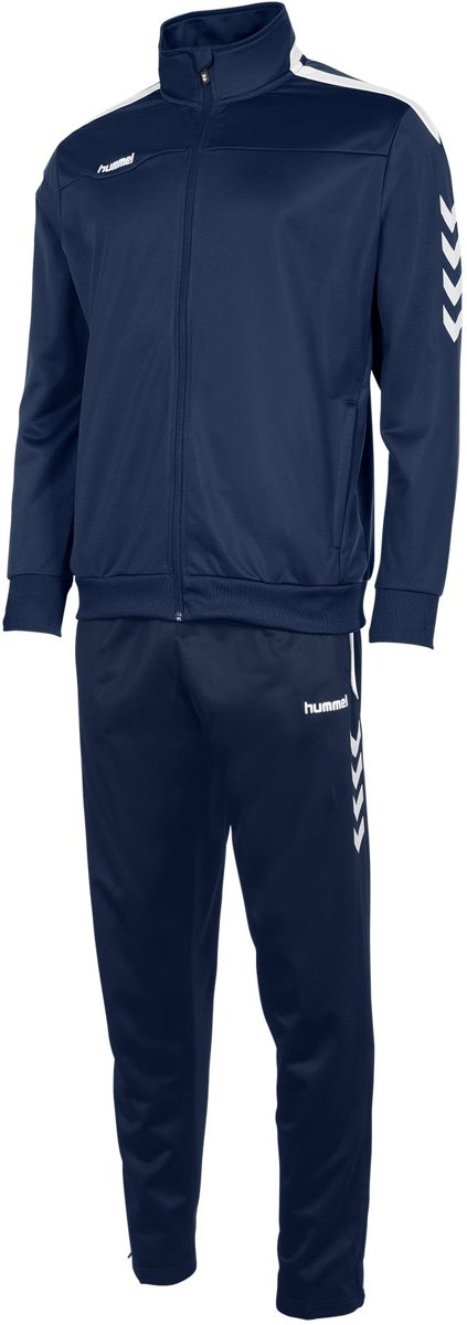 hummel Valencia Polyester Suit Trainingspak Heren - Navy/White