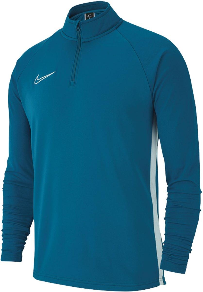 Nike Dry Academy19 Drill Trainingstrui Blauw Wit