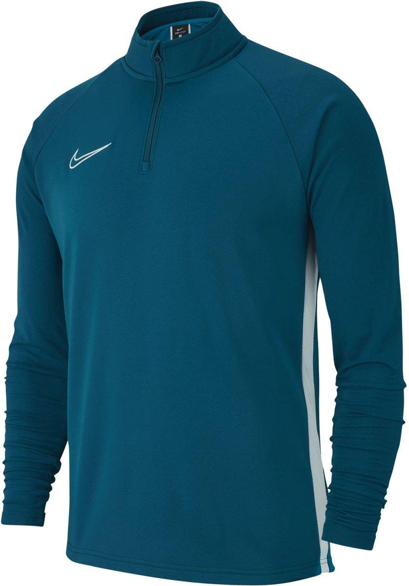 Nike Dry Academy19 Drill Trainingstrui Kids Blauw Wit