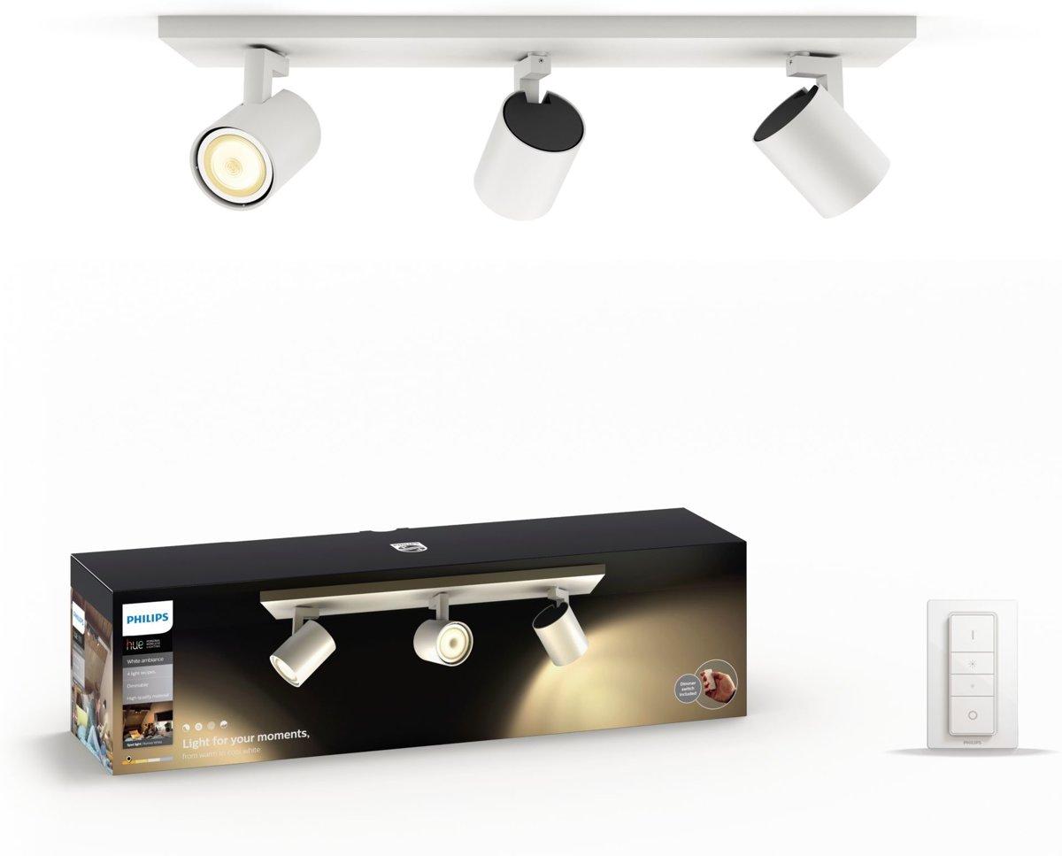 Philips Lighting Hue Plafondspot White ambiance Runner GU10 16.5 W Warm-wit, Neutraal wit, Daglicht-wit
