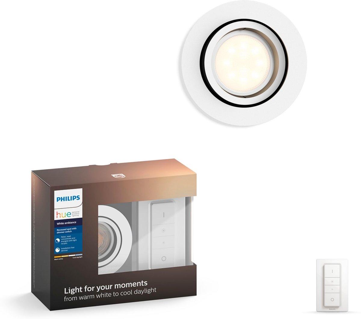 Philips Lighting Hue Inbouwlamp Milliskin GU10 5.5 W Warm-wit, Neutraal wit, Daglicht-wit