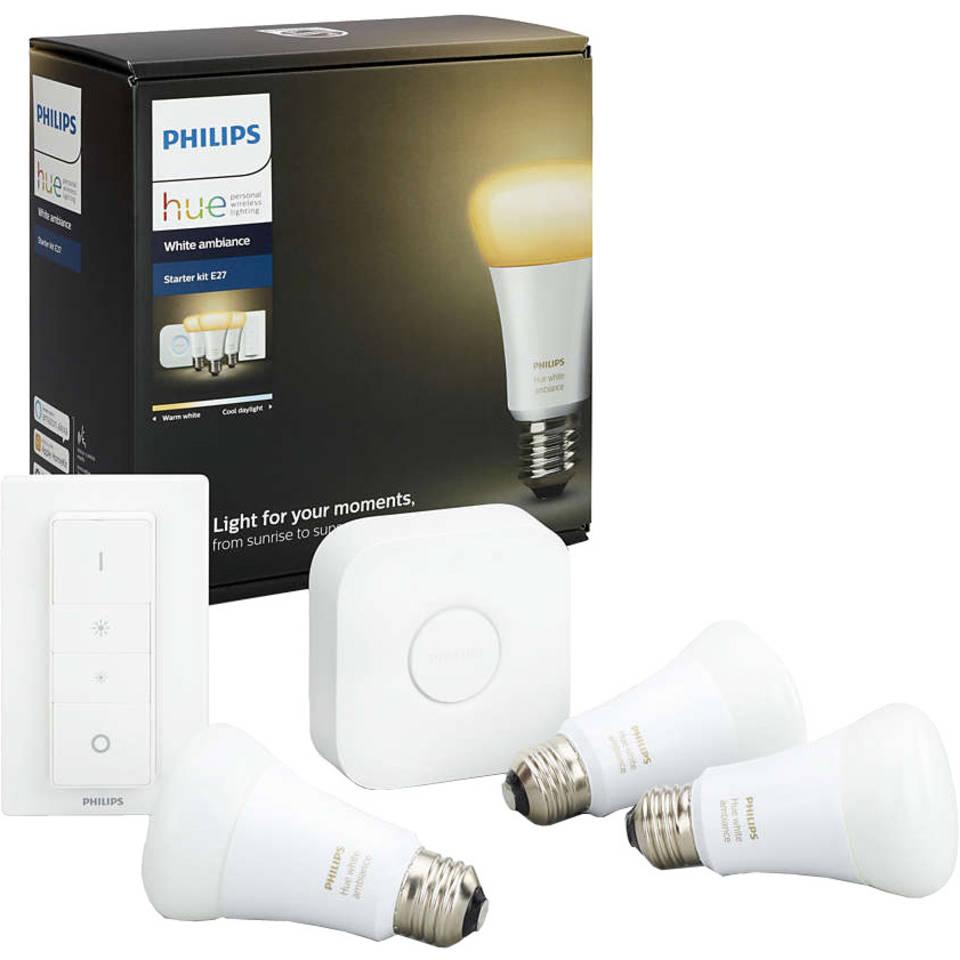 Philips Hue sfeerverlichting White Ambiance E27 Starterkit