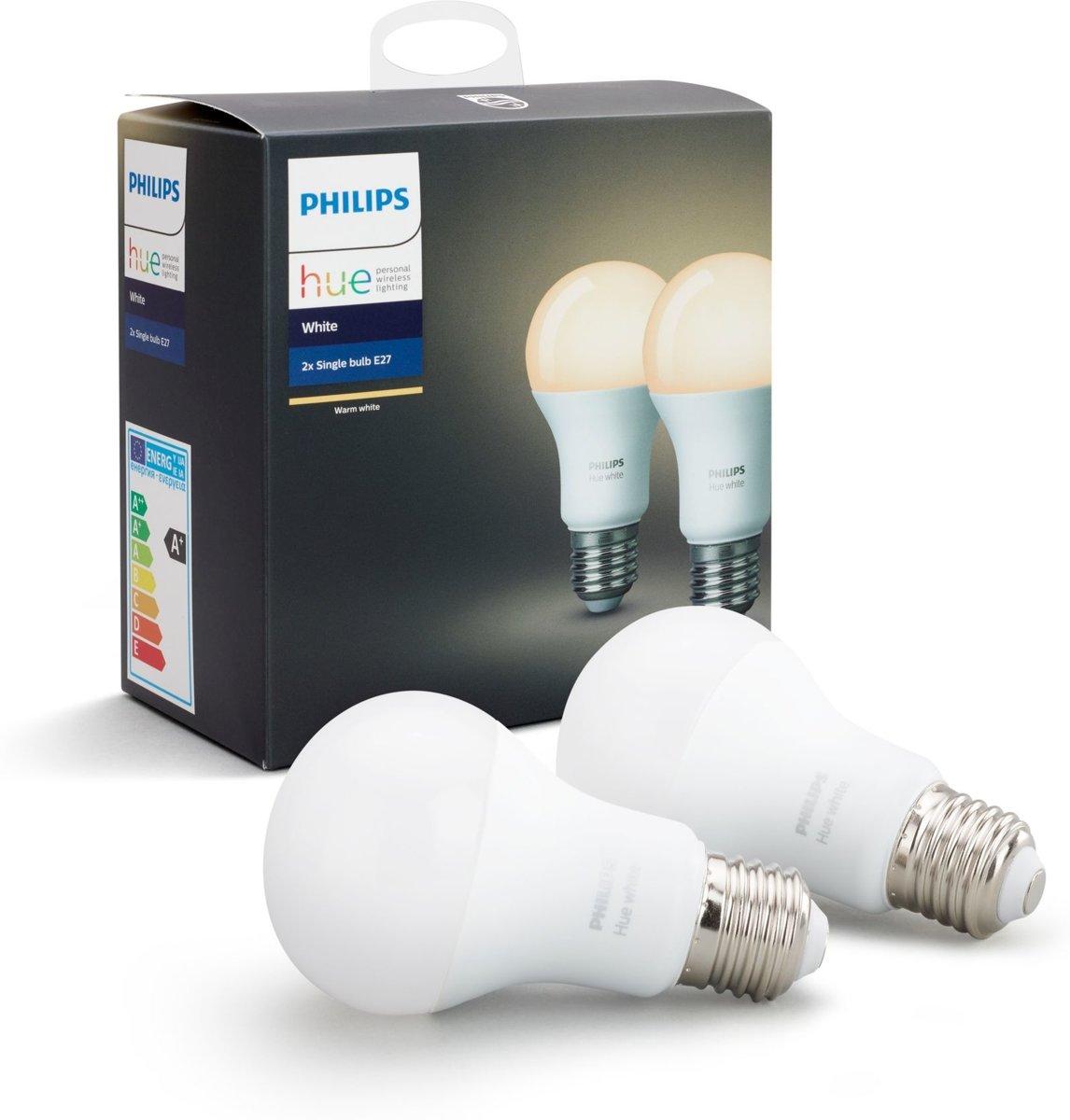 Philips Hue sfeerverlichting White E27 Duopak