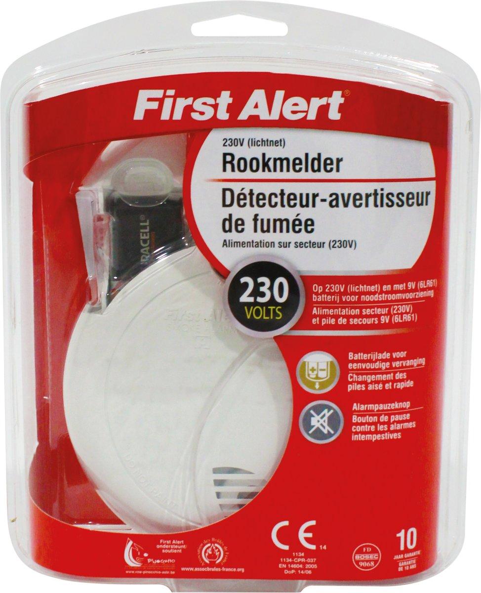 First Alert SA730CE Rookmelder 230V/9V