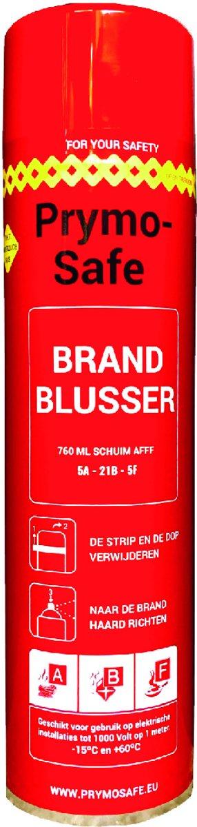 Prymosafe, Universele spray-blusser, inhoud 760 ml, 1 Brandblusser voor alle meest voorkomende beginnende branden.