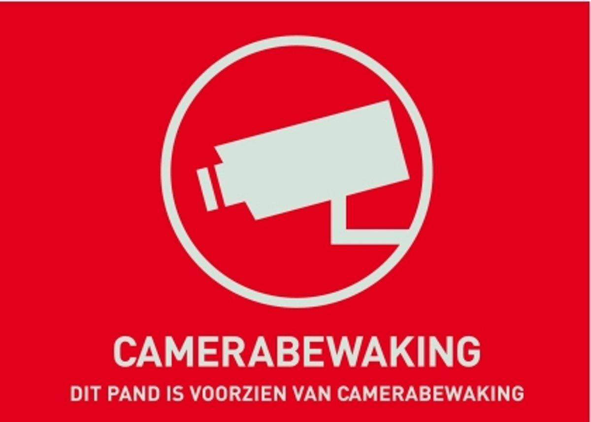 ABUS Waarschuwingssticker Camerabewaking NL, 148 x 105 mm