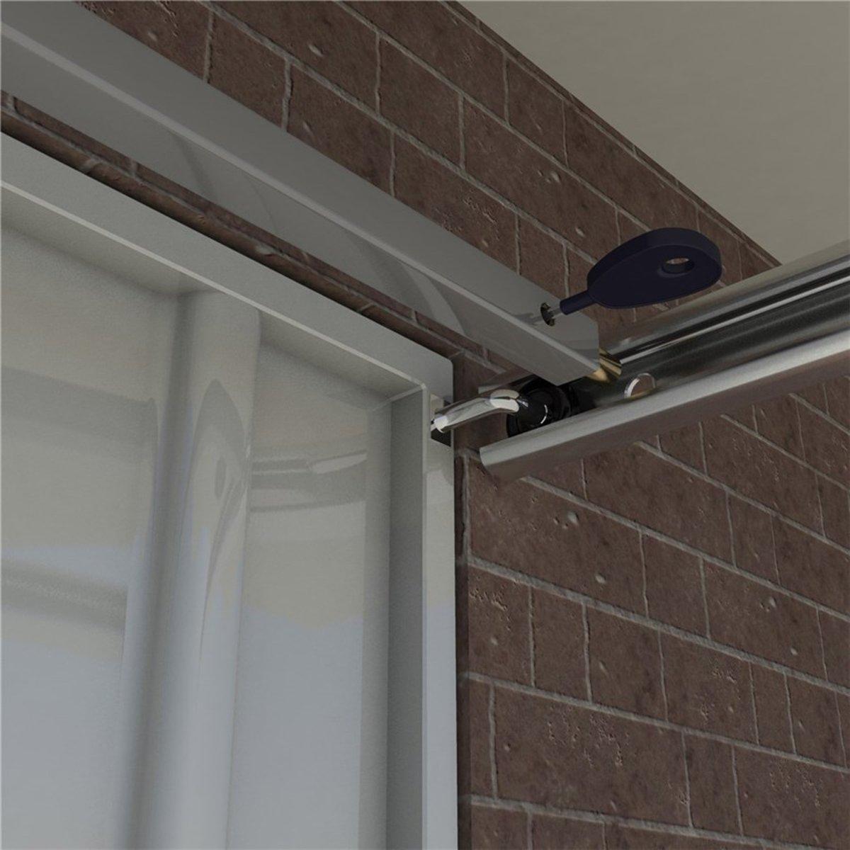 SecuMax  garagedeurbeveiliging Basic - 293cm - Silverline RAL9006 - 2510.010.25