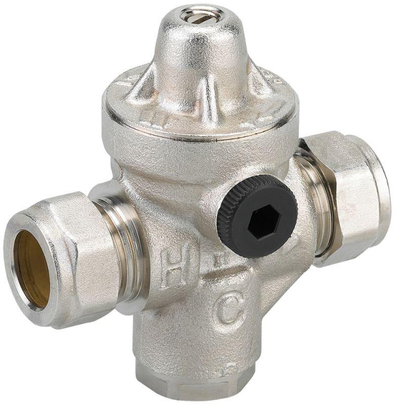 Watts Industries waterdrukreduceerventielrecht Redufix, 15mm, max. inlaatdruk. 15bar