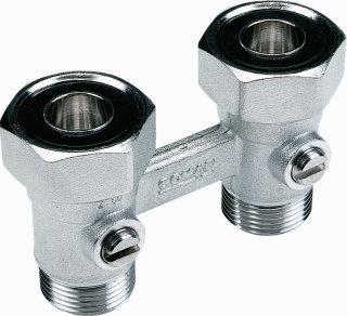 Comap Sar 960 h-onderblok, messing, lengte 50mm maat radiatoraansluiting 3/4