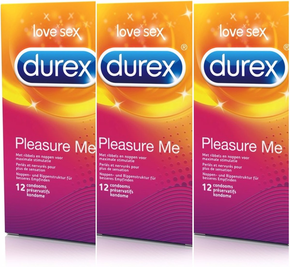 Durex Pleasure Me voordeelverpakking 3 x 12stuks