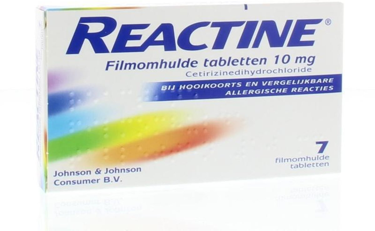 Reactine ant-histaminic.10mg 7 st