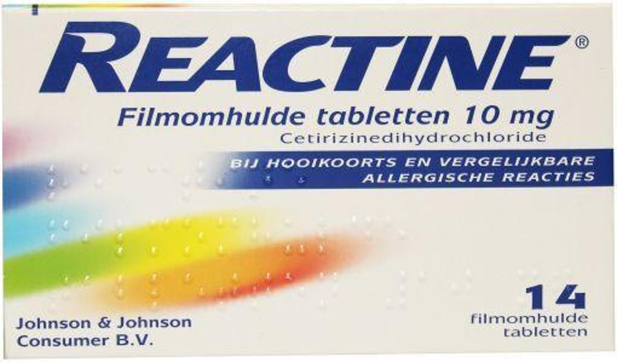 Reactine ant-histaminic.10mg 14 st