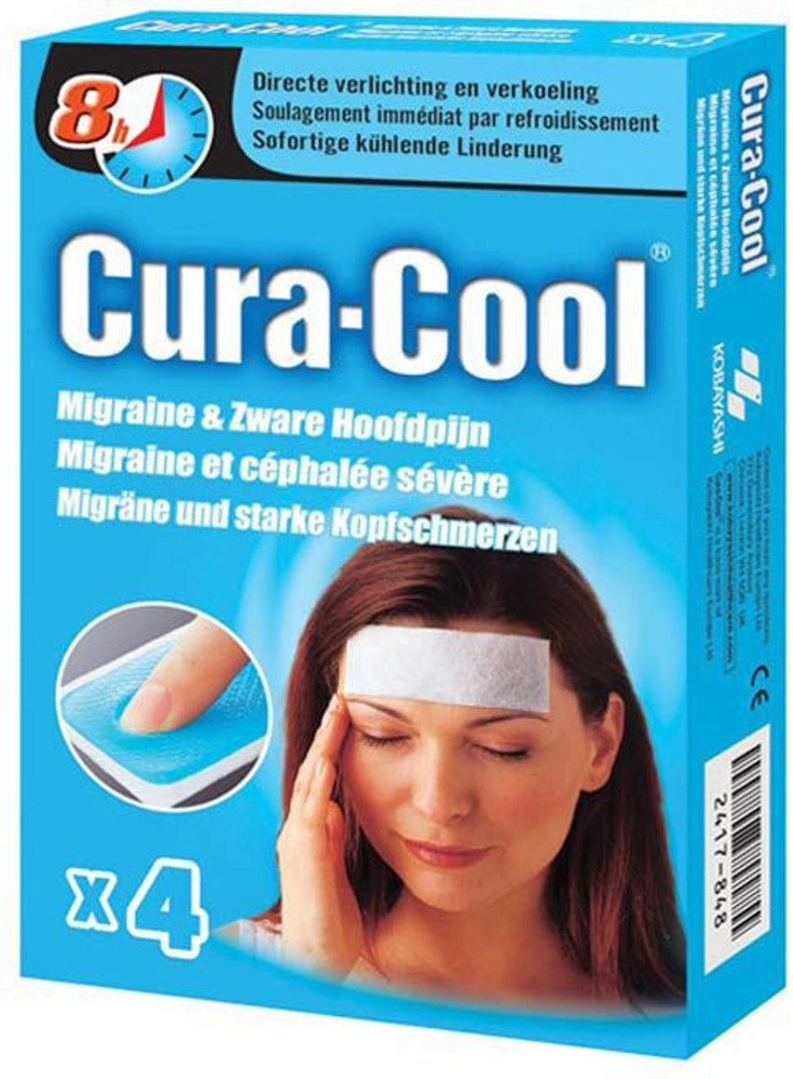 Cura Cool - 4 st - Migrainestrips