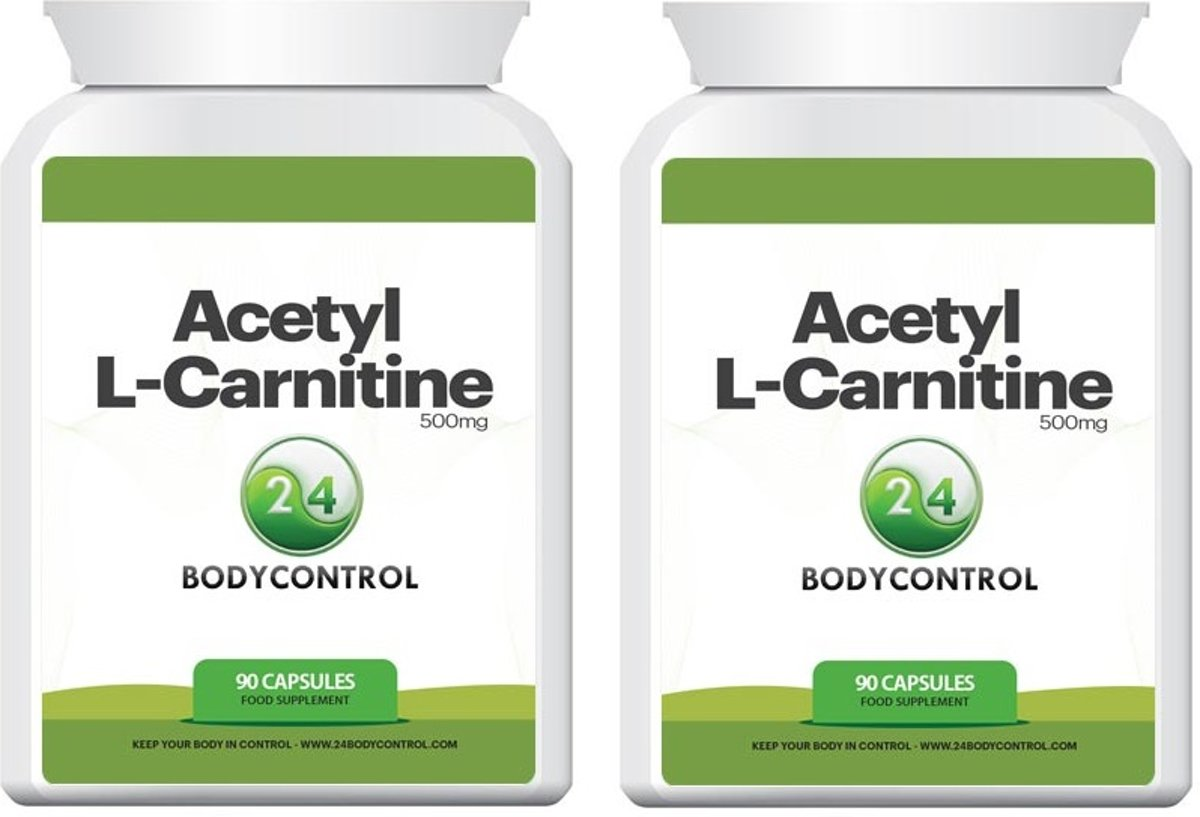 24Bodycontrol Acetyl L-carnitine Duopack vetverbranders - 180 capsules - Voedingssupplement