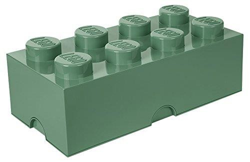LEGO Brick 8 opbergbox - zand groen