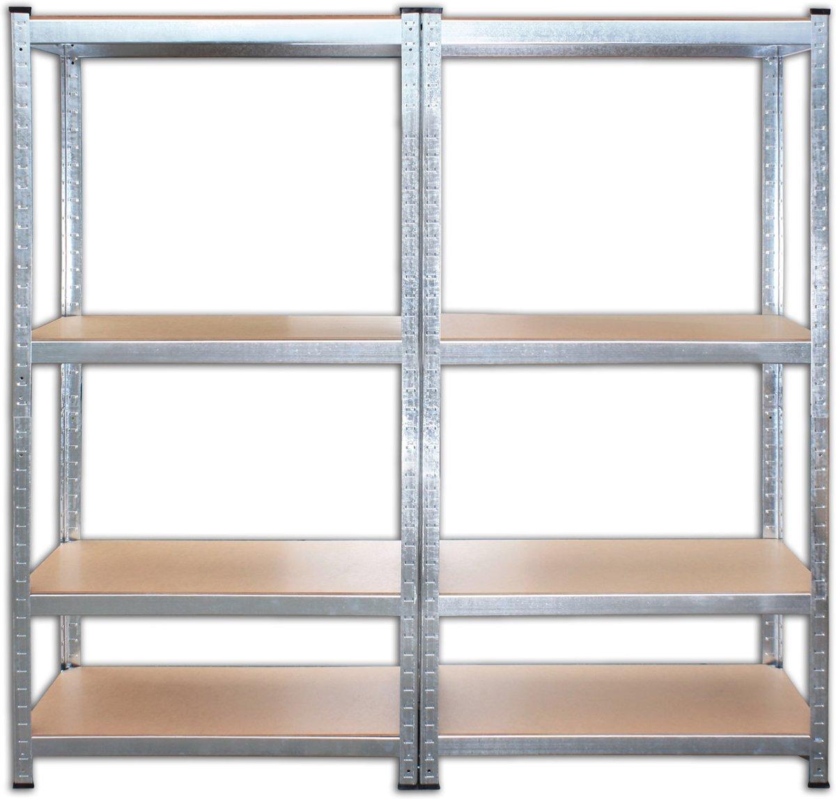 XL Stellingkast Magazijnrek - Voorraadkast Stellingrek - Legbordstelling - Wand Voorraadrek Opberg Stelling