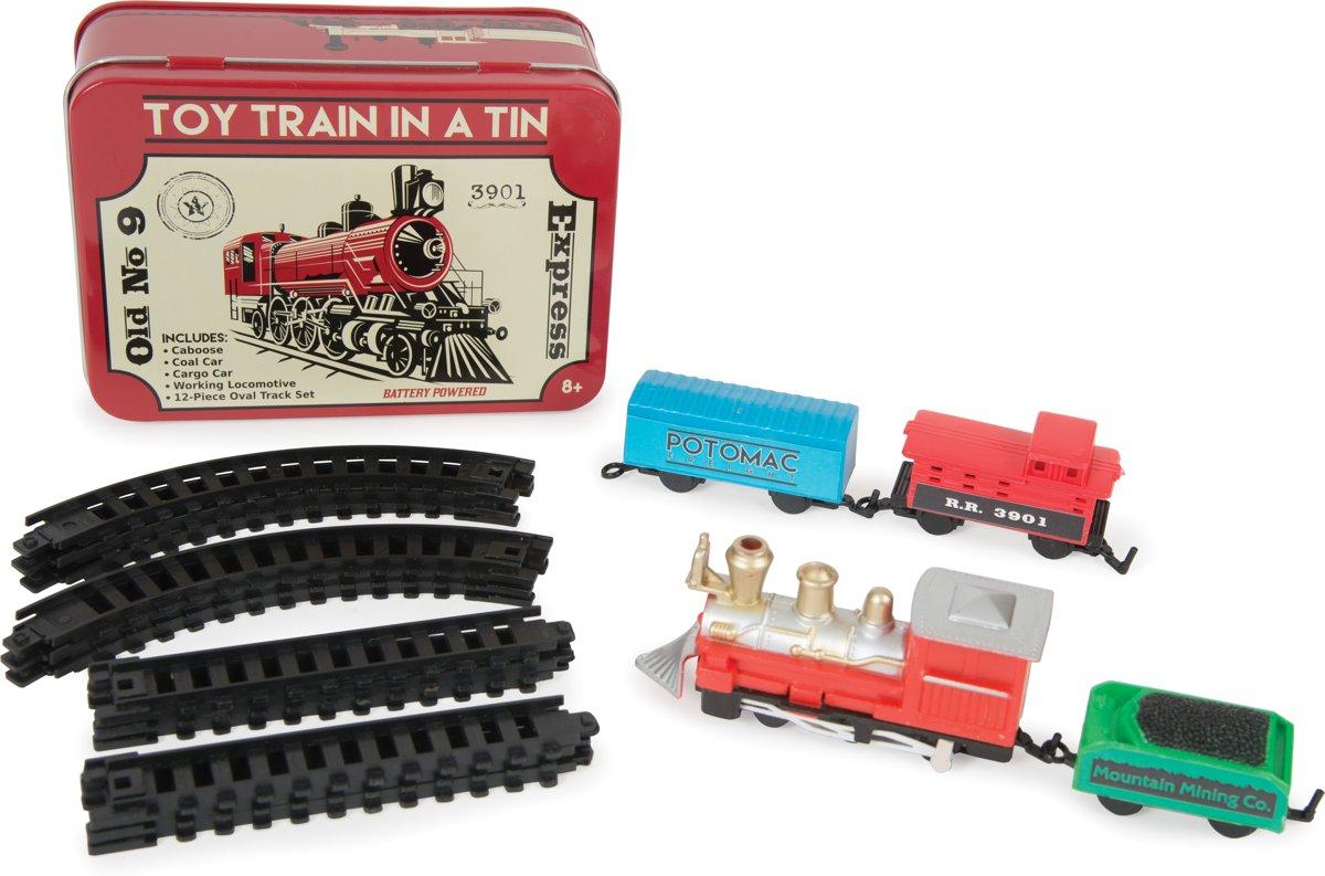 Funtime Treinset en treinbaan in blik - 16 delig