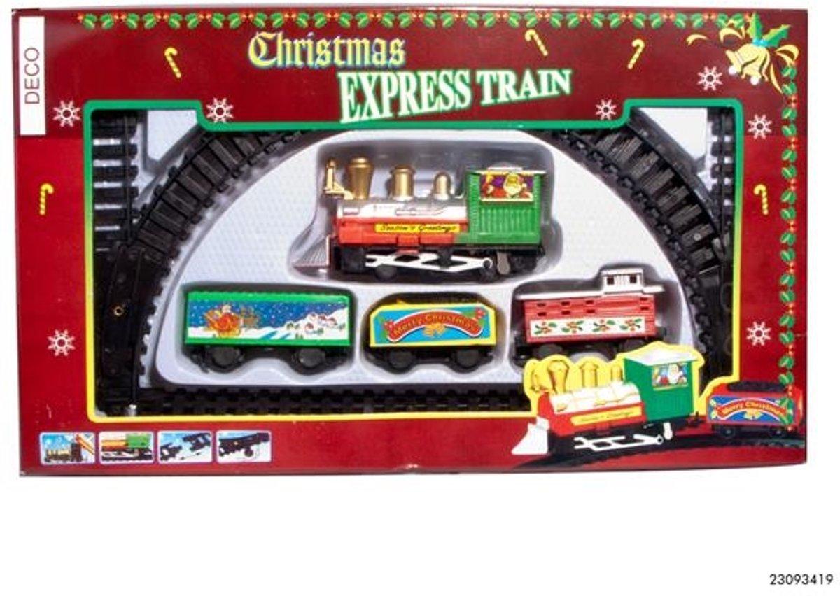 Treinset 10-delig voor kerst kersttrein