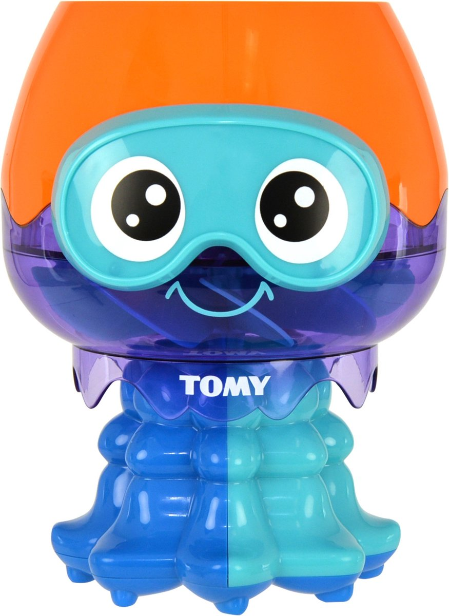 Tomy fontein inktvis 20 cm blauw