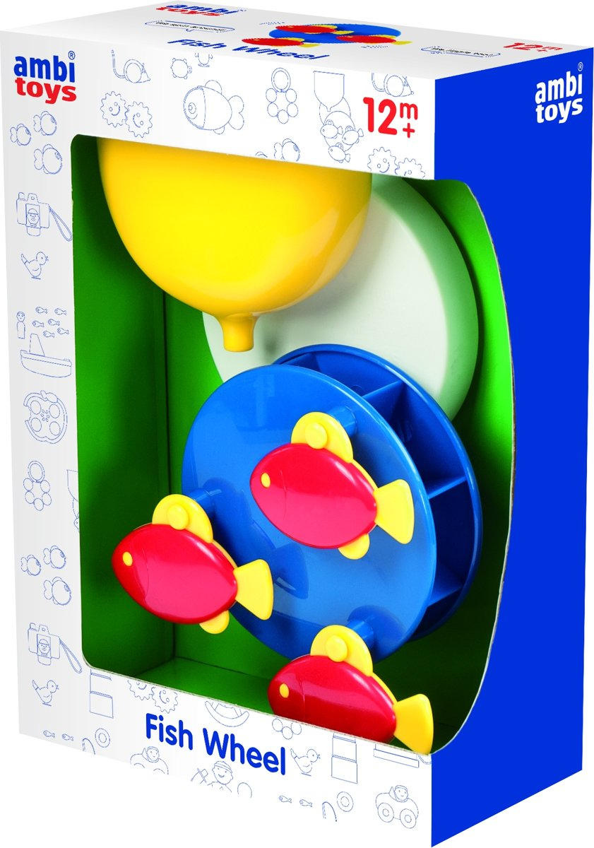 Ambi Toys badspeelgoed Fish Wheel 21 cm geel