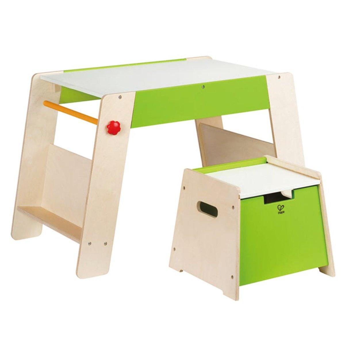 Hape kindertafel en stoel - toepasbaar met tekenpapierrol - duurzaam hout