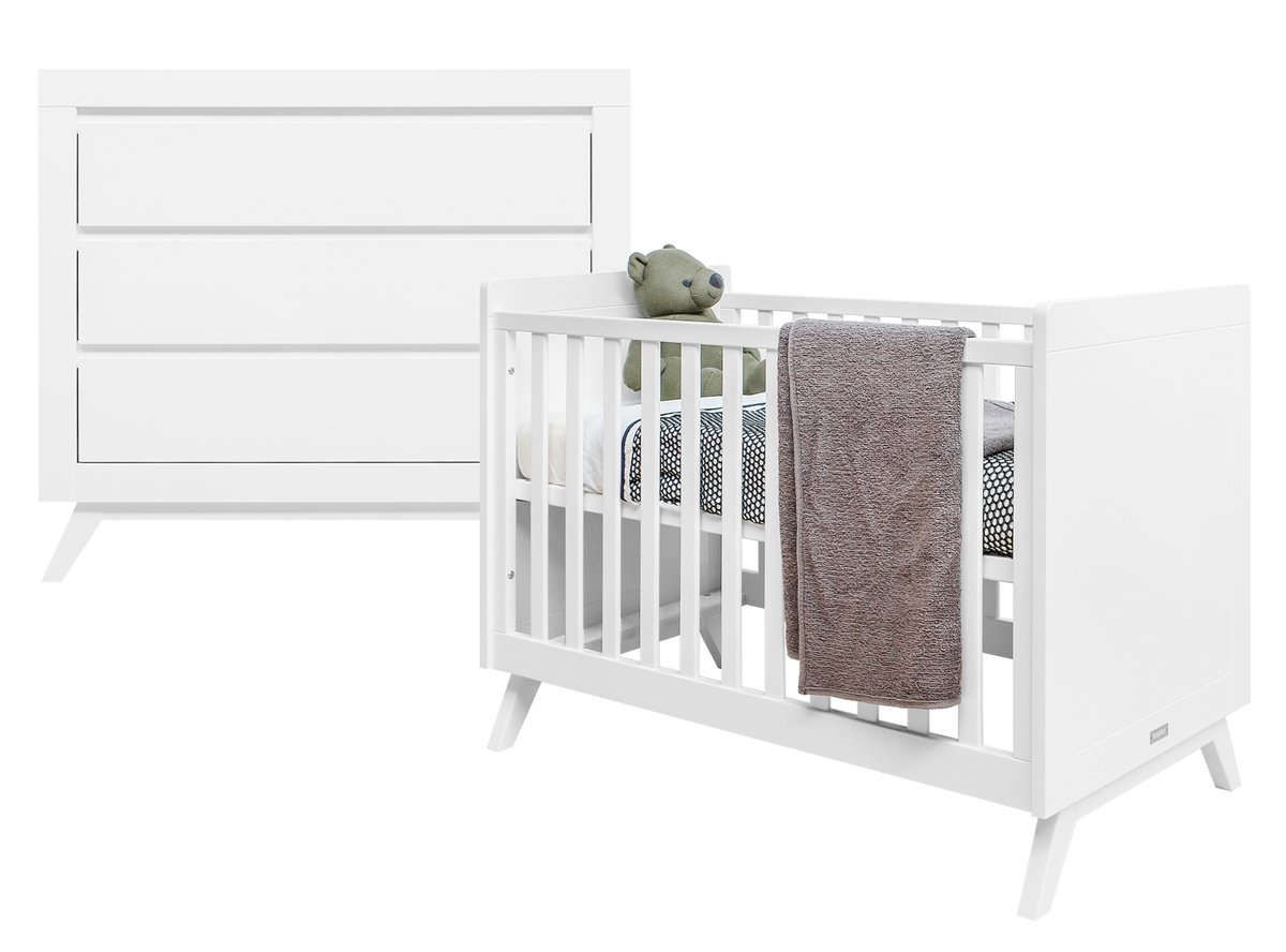 Bopita - Babykamer Anne - 2-Delige - Bed - Commode - Wit