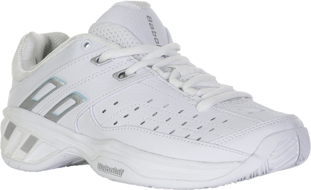 Babolat Double Line  Tennisschoenen - Maat 38 - Vrouwen - wit/blauw