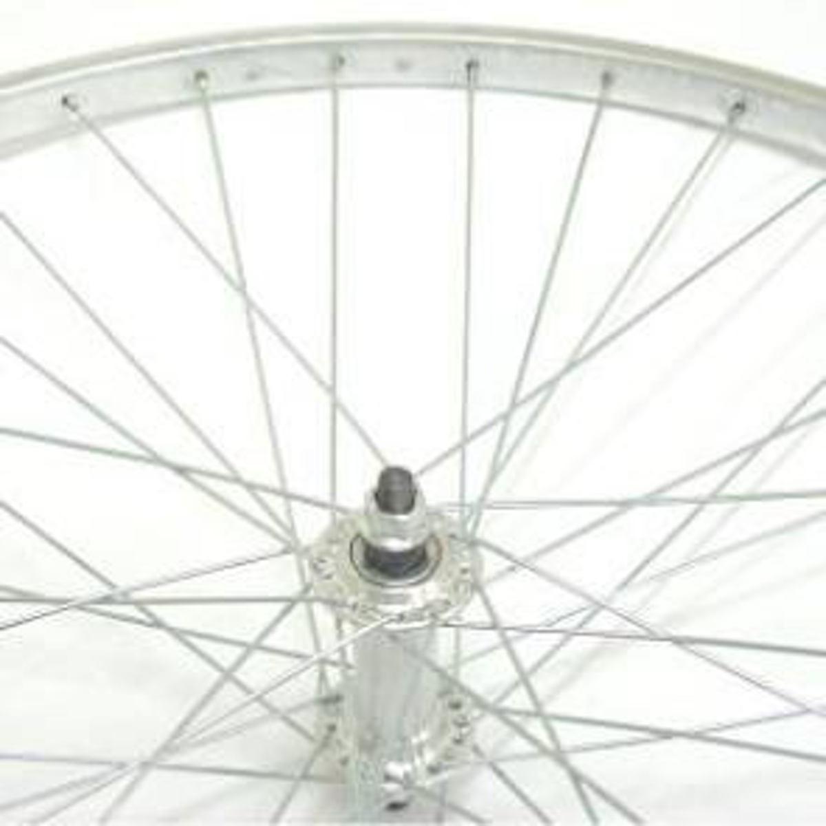 VWP voorwiel 24-1.75 inch aluminium 36G zilver