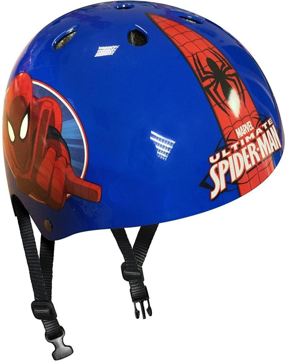 skatehelm Spider-Man blauw/rood maat 54/60 cm