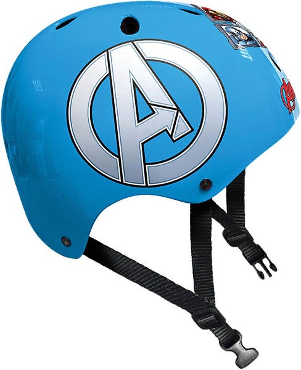 skatehelm Avengers blauw maat 54/60 cm
