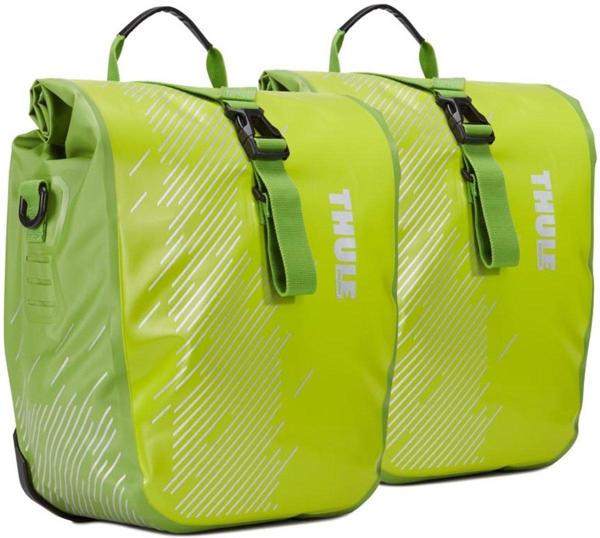 Thule Shield Pannier Small Dubbele Fietstas - 28 liter - Groen