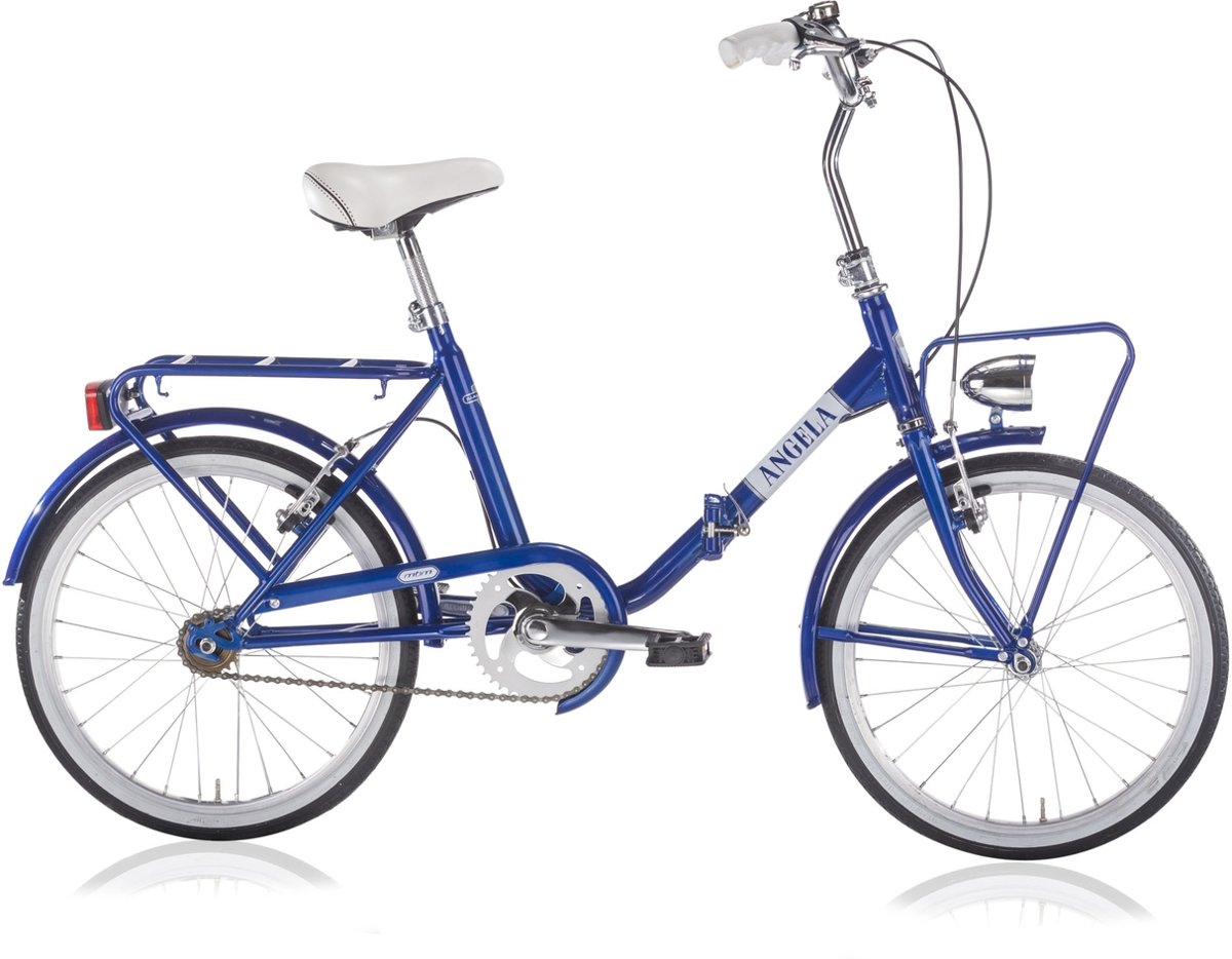 Vouwfietsen Angela 20 inch vrijloop + 2 Vbrakes blue