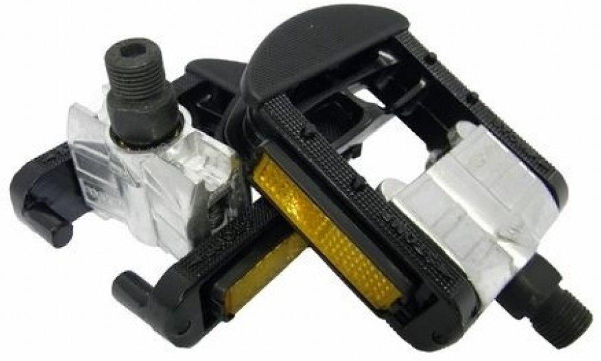 VWP Vouwpedaal Vouwfiets Super Alu/Alu 9/16 inch zwart set