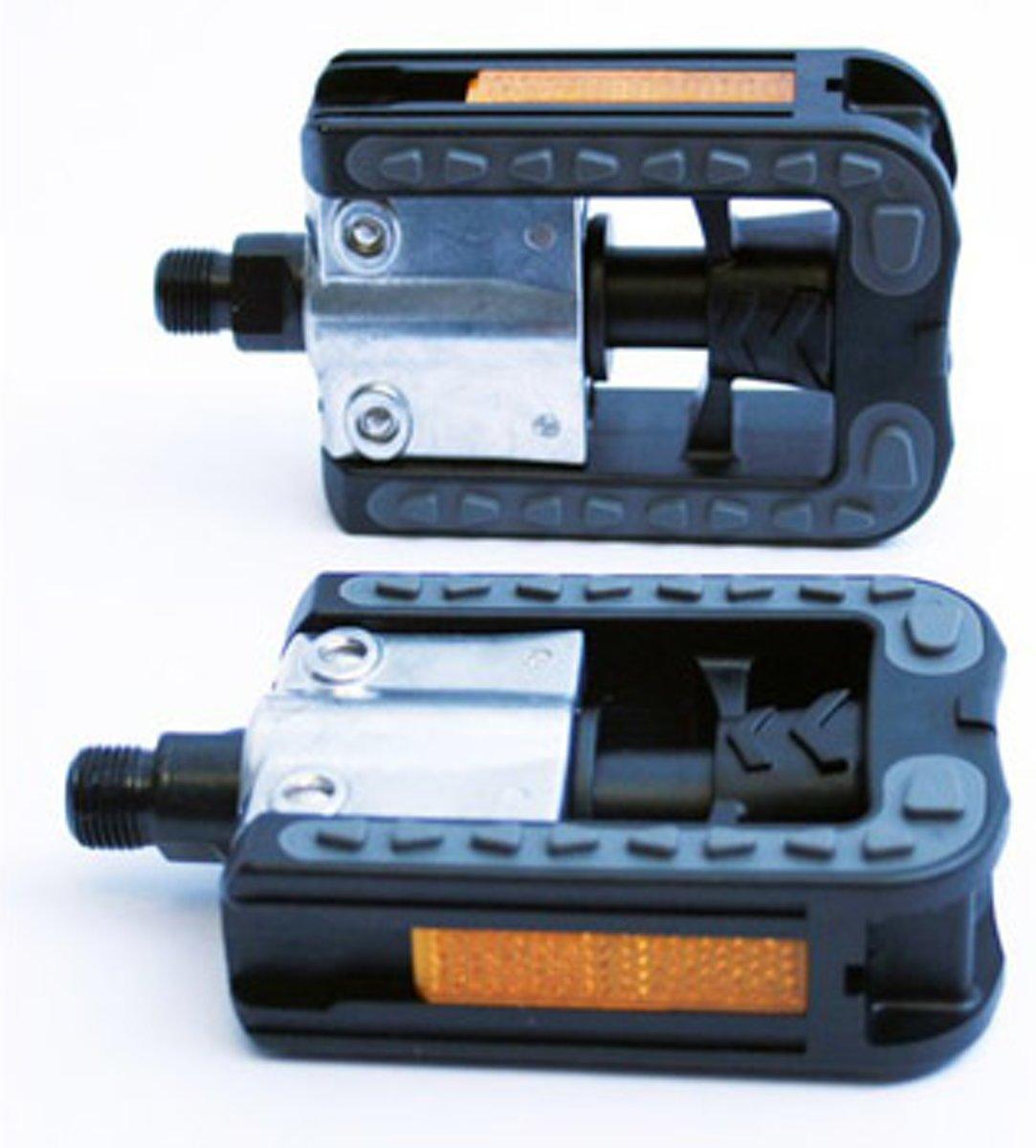 VWP Vouwpedaal Vouwfiets VP-113 Anti-slip 9/16 Inch zwart set