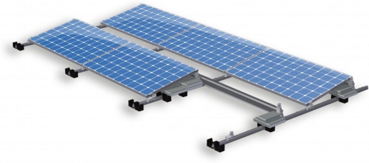 Zonnepanelen compleet pakket plat dak 1400W