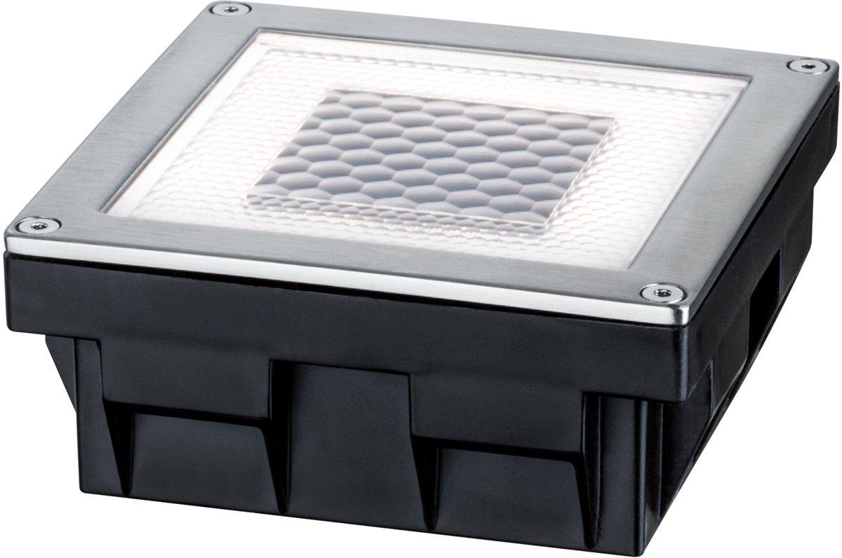 Paulmann Cube 93774 Solar inbouwlamp 0.24 W Warm-wit RVS