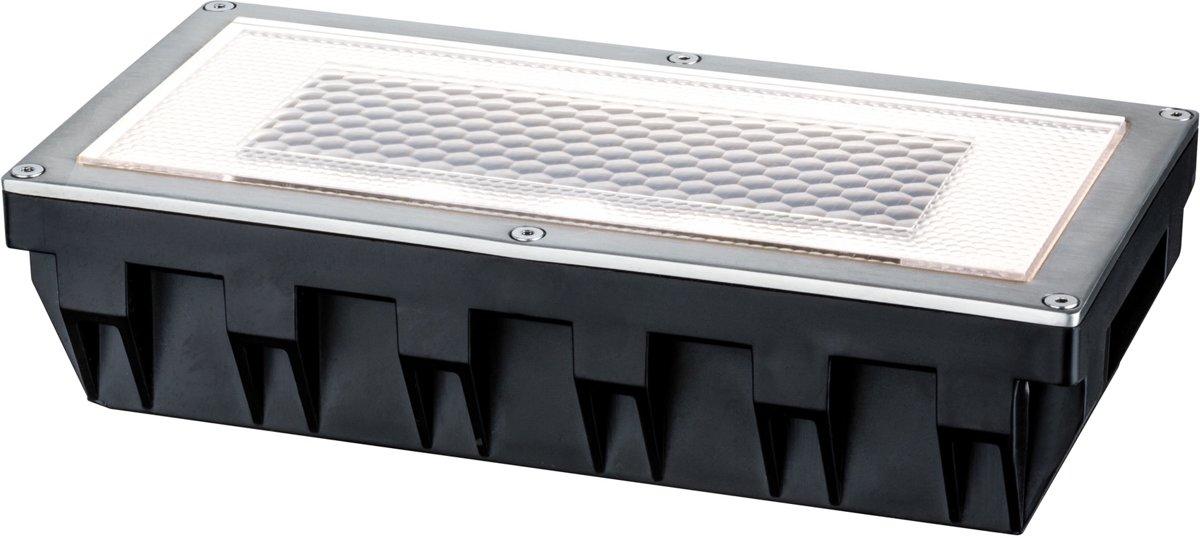 Paulmann Box 93775 Solar inbouwlamp 0.6 W Warm-wit Zilver-grijs