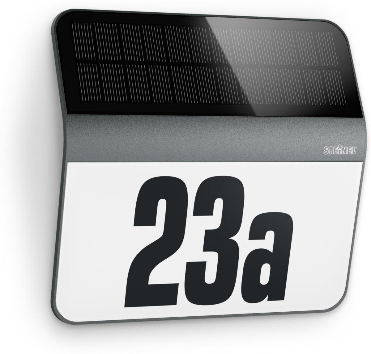Steinel XSolar LH-N 035730 Solar huisnummerlamp 0.03 W Koud-wit Antraciet