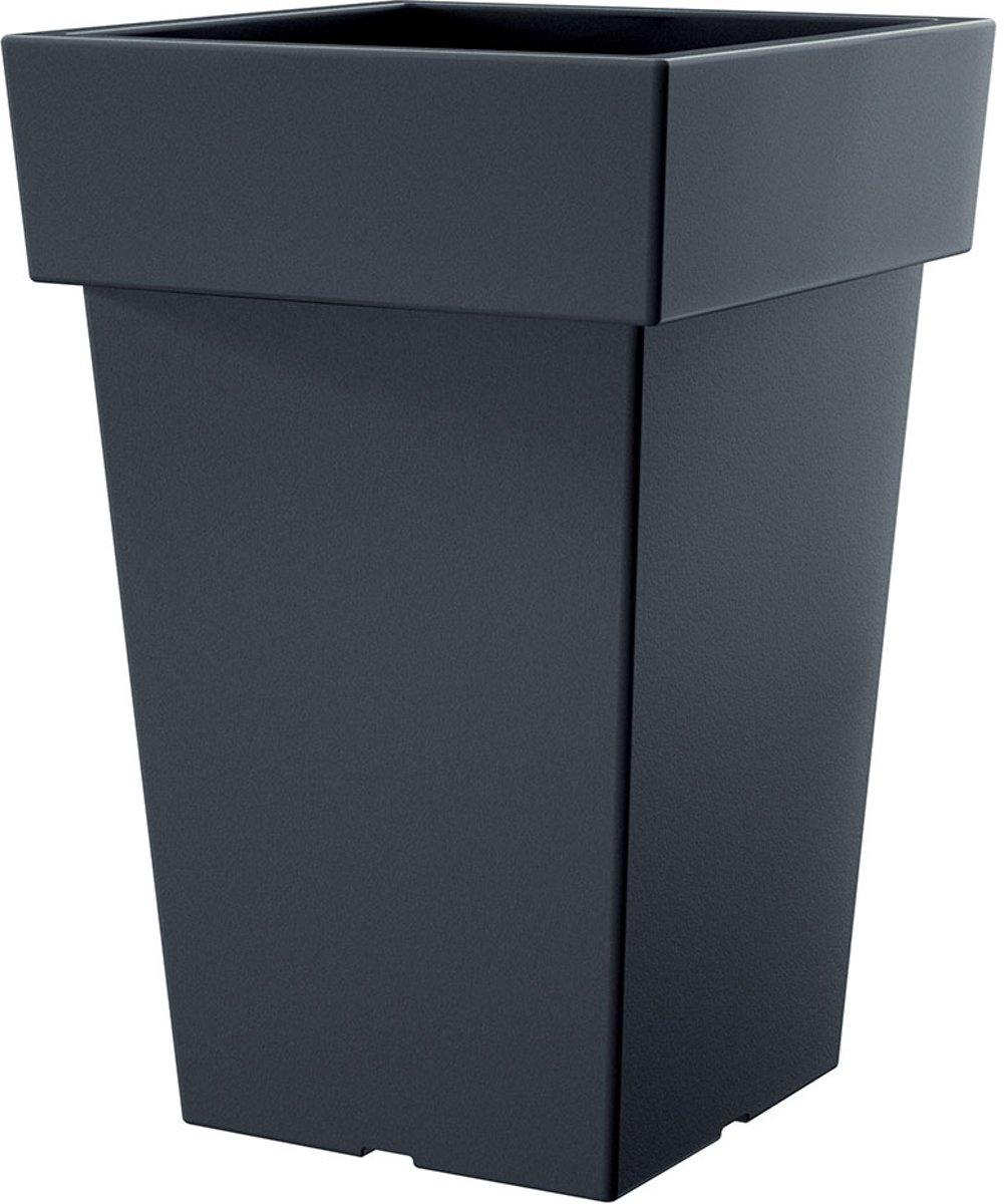 Bloempot Hoog Vierkant Urbi Square 33x33x61cm MOKKA Prosperplast