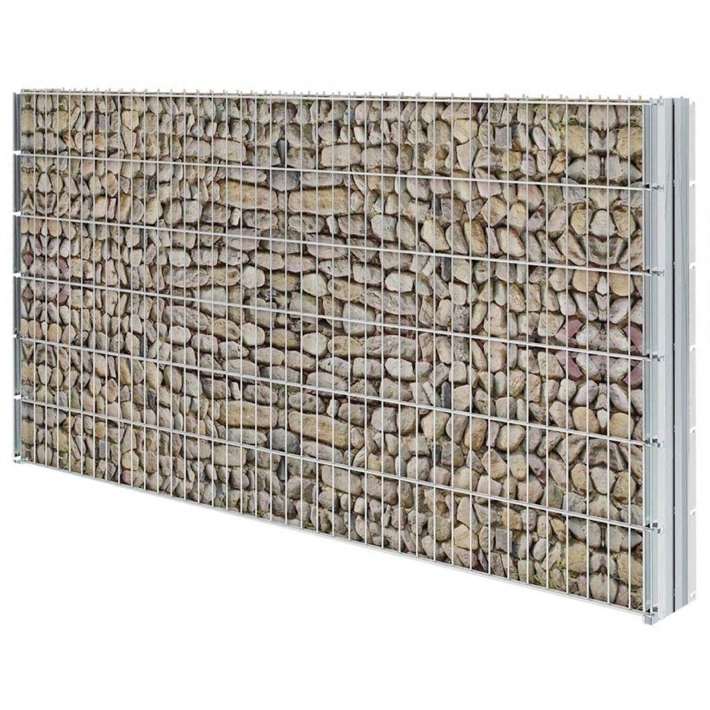 vidaXL 2D Schanskorf muur 2008x1230 mm 6 m gegalvaniseerd